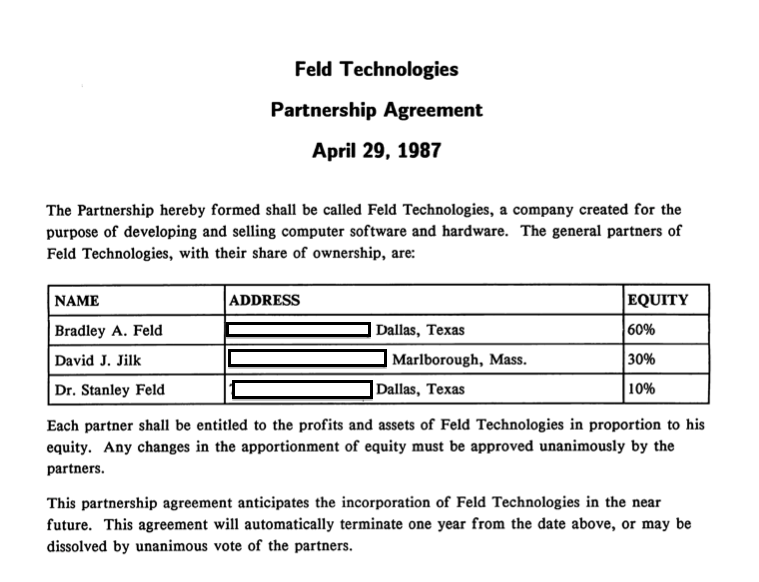 Doc12751650 Partnership Agreement Between Two Companies – Business Partnership Contract