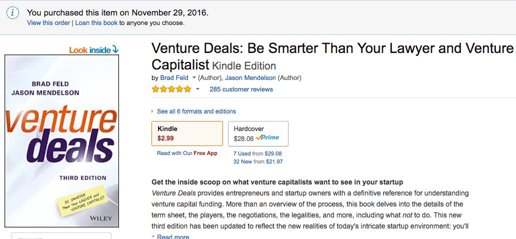 Venture deals 2nd edition